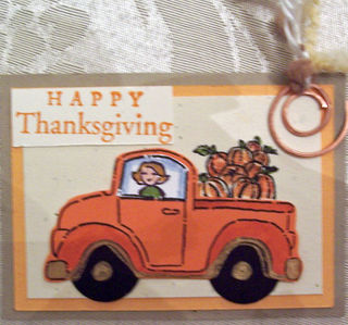 Truckload of Pumpkins ATC