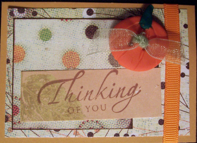 Thinking of You w Clay Button #2