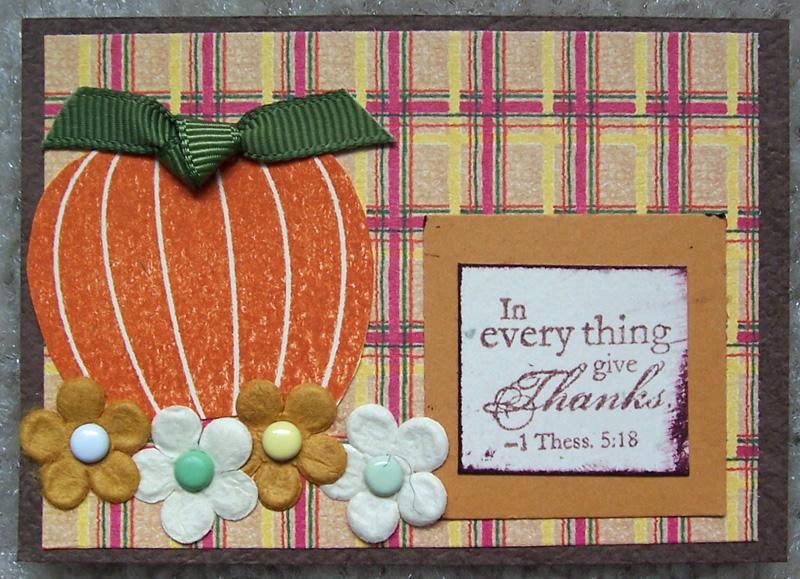 Thankful pumpkin ATC #2